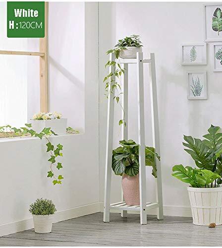 ZAHOYAN Plant Stand, Woonkamer Houten Bloemenstandaard Indoor Planter Ladder Multilayer Effen Houten Balkon Vloerstaande Potted Display Plank Tuin Kruidenrek
