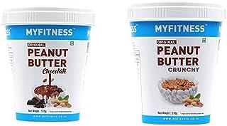 MYFITNESS Chocolate Peanut Butter 510g + MYFITNESS Original Peanut Butter Crunchy 510g