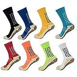 Konloo SJD415 Lot de 8 chaussettes de football antidérapantes pour homme