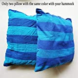 <span class='highlight'>YWCXMY</span>-<span class='highlight'>LDL</span> Hammock Chair Hanging Chair Swing Chair Seat With 2 Pillows For Indoor,Outdoor,Garden (can Choose The Wooden Stick) (Color : E only pillow)