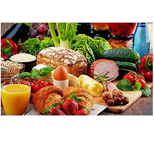 Verduras Pan Frutas Cocina Lienzo Pintura Restaurante Carteles e impresiones Inicio Arte de la pared Comida Imagen Sala de estar 30x50 cm / 11.8x19.7in sin marco