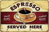 para decoración de cafetería, expreso, leche, glaseado, moca, carteles de chapa de metal, cartel vintage para bar, cafetería, hogar (4), para bar, cafetería, restaurante, cartel de hierro, 20x30 cm