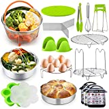 P&P CHEF 18 Pieces Pressure Cooker Instant Pot Accessories Set for Cooking and Serving, Fit 6/8 QT Electric...