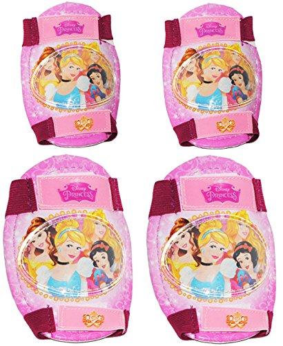 alles-meine.de GmbH 4 TLG. Set:  Disney Princess / Prinzesssin  - Knieschützer + Ellenbogenschützer - für Circa 5 bis 12 Jahre - für Kinder - Gelenkschützer Knieschoner rosa pi..