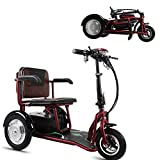 *YHXJ Escúters Discapacitats, Bateria Extraïble, Motor De 350 Watts, Càrrega De 120 Kg / 264 Lliures, Adequat per a Persones Majors, Discapacitades I Adults, Convenient per a Viatjar *34mi