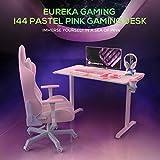EUREKA ERGONOMIC I1-S Gaming Desk – 45 Zoll (Pink) - 4