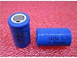 2 Pieces Compatible for Battery 14250 ER14250 LS14250 3 7V 300 mAh Rechargeable Lithium Battery 1/2 AA Li-ion Battery Leg Foot Foot