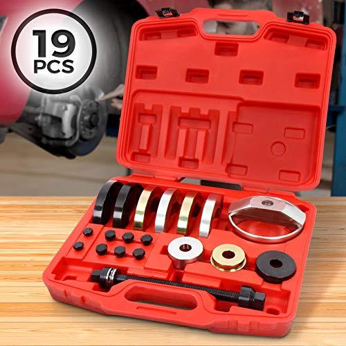 Radlagerwerkzeug Set - inkl. Koffer, Carbonstahl, mit Halbschalen 72mm, Druckscheiben, universal - Radnabe Abzieher, Radlager Auto Werkzeug Satz für Montage und Demontage, Radnabenentfernung