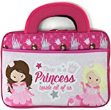 Leapfrog Epic LeapPad Platinum Ultimate Ultra XDI Kids Tablet Portable Travel Activity Carrying Neoprene Case Sleeve Bag Tote with Dual Handles Zipper Accessory Pocket 10 inch (Princess)