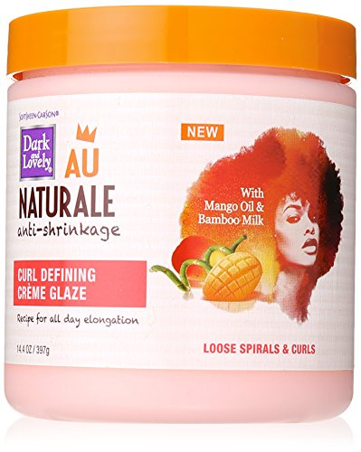 Price comparison product image Softsheen-Carson Dark and Lovely Au Naturale Anti-Shrinkage Curly Hair Products,  Curl Defining Crème Glaze,  Mango Oil and Bamboo Milk,  Defines Loose Spirals and Curls,  Paraben Free,  14.4 oz