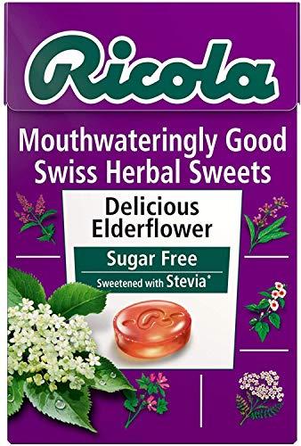 Ricola Swiss Elderflower Herbal Drops 45g Box (Pack of 10)