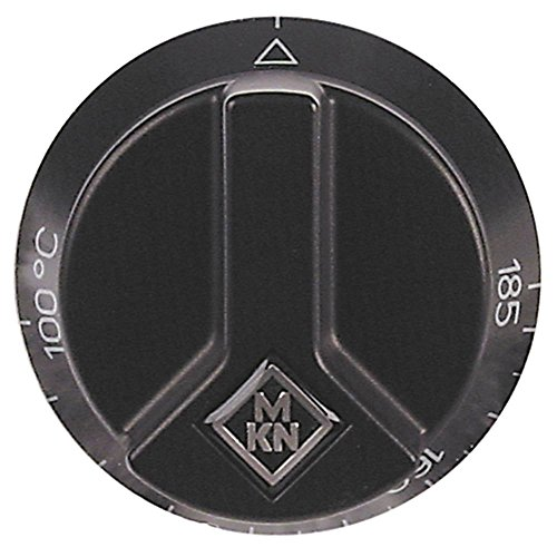 MKN Knebel für Fritteuse 2020302A01, 2020302C00, 2020301A01 für Thermostat ø 65mm Symbol 100-185°C für Achse ø 6x4,6mm