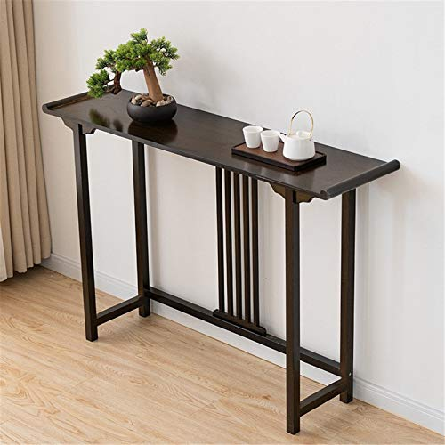 YaGFeng Console Table Home Decorative Porch Cabinet Solid Wood Wall Side Table Small Narrow Table Suitable for Bedroom Balcony (Color : Black, Size : 100x31x80cm)
