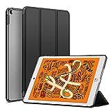 KENKE iPad mini 5 2019 ケース 軽量 薄型 耐衝撃 放熱 三つ折りスタンド オートスリープ機能 傷防止 クリア 背面 保護ケース スマートカバー iPad mini5(第五世代) 対応(ダークブラック)…