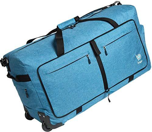 Bago Wheeled Duffle Bag Luggage - 100L Large Rolling Duffel Bag 30 inch Folding Duffle Bag...