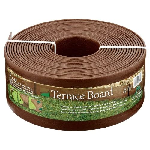 Master Mark Plastics 95340 Terrace Board Landscape Edging Coil, 5-inch x 40- - Metal Landscape Edging: Amazon.com