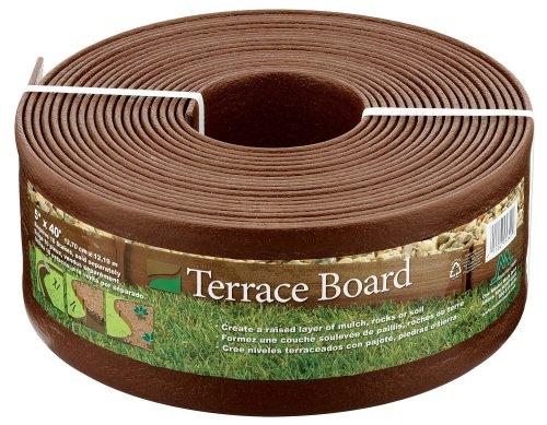 Master Mark Plastics 95340 Terrace Board Landscape Edging Coil, 5-inch x 40-Foot, Brown
