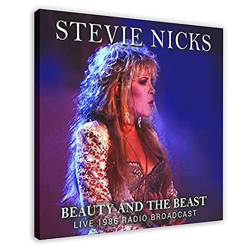 Stevie Nicks - Álbum de fotos de Stevie Nicks - Lienzo decorativo para pared, diseño de la bestia y la belleza