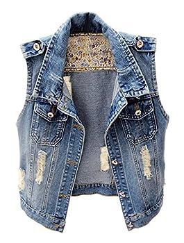Best sleeveless jean jacket women Reviews