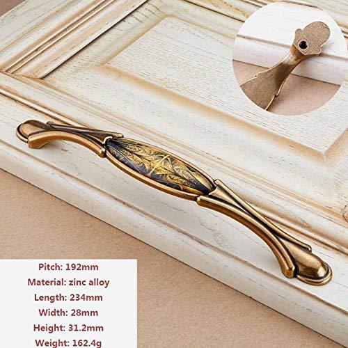Türgriff Klassischer Chinesischer Schrank Kleiderschrank Griff Einfacher Europäischer Goldgriff Möbelbeschläge Accessories@234x28x31.2mm