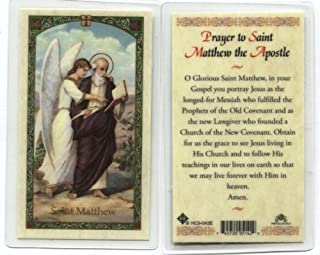 Prayer to St. Matthew Holy Card (HC9-043E) - Laminated