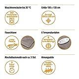 Beurer HD 75 Wärmedecke, kuschelige Heizdecke mit 6 Temperaturstufen, elektronische Temperaturregelung, 180 x 130 cm - 5