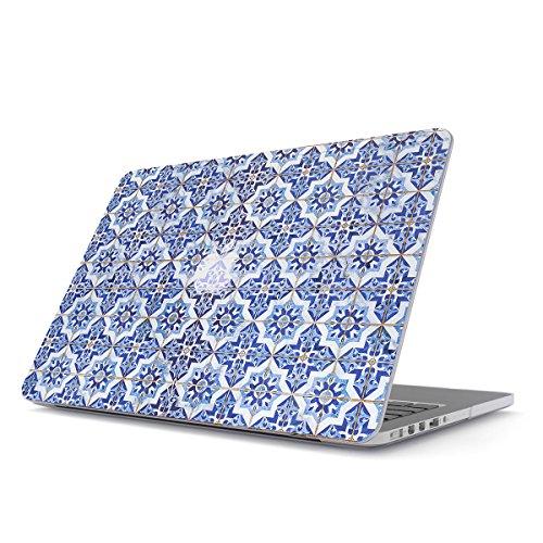 BURGA Custodia per MacBook PRO 13 Pollici Retina Hard Case Cover Modello: A1502 / A1425, 2012-2015 Azzuro Blu Marmo Moroccan Tiles Mosaico Blue Marble
