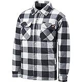 Dickies Herren Thermohemd Portland, Holzfällerhemd, Karo Muster (Weiß/Grau,2XL)
