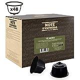 Note d'Espresso - Lot de 48 capsules de thé noir compatibles avec machine Dolce Gusto, 48x2,5g