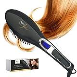 FemJolie Hair Straightening Brush Best for Beauty Styling (w/Velvet Pouch, Glove) 40W Professional...