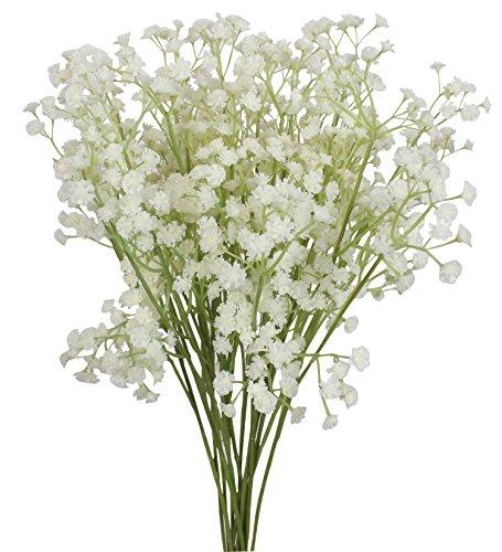 XIUER Gypsophila-Blumen 60cm, 10 Stück, künstliche Gypsophila-Blumensträuße, für Hochzeiten, Innendekoration oder DIY; Fühlen sich wie echte Blumen an