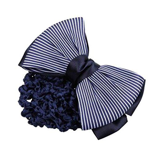 2PCS Filles Snood net Clip de cheveux Couvercle de coque Bow Barrette professionnel Coiffure, R