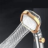 LDLD Ducha de Mano Turbina incorporada Rociador de Ducha de baño de Alta presión Que Ahorra Agua