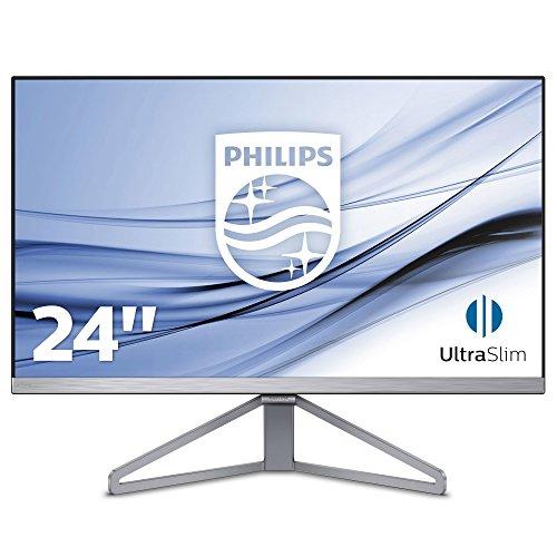 "Philips 245C7QJSB Monitor 24"" LED IPS Full HD, 1920 x 1080, Ultra Wide Color e Design Super Sottile, 5 ms, 3 Side Frameless, Flicker Free, HDMI, Display Port, VGA, Nero/Argento"
