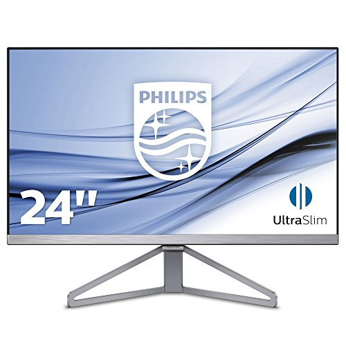 Philips 245C7QJSB/00 60,5 cm (23,8 inch) monitor (VGA, HDMI, 1920 x 1080, 5 ms, ultrasmal frame), zwart-zilver