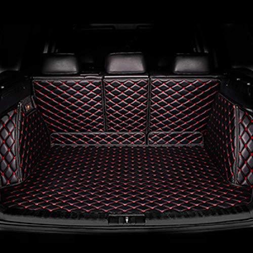 PXX Auto Trunk Mat, voor Nissan Alle Modellen Patrol Kicks Maxima Murano Lannia Zonnige Sylphy Qashqai Teana X Trail Livina Tiida Aangepaste Auto Trunk Mat Zwart Rood