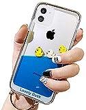 UnnFiko Dynamic Blue Liquid Floating Hülle Kompatibel mit iPhone 7 Plus/iPhone 8 Plus, Gelbe Enten & Piratenschiff, flexibel, weiche Gummihülle mit Quicksand Cover, iPhone 11, Three Ducks