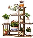 Estantería de madera para macetas Malayas, ideal para exteriores e interiores, 6...