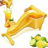 Fruit Squeezer Citrus Lime Entsafter Qualitäts-Saftpresse, Zitrone manuelle orange Squeezer, schneller und effizientes Entsaften, Korrosionsschutz,Gelb
