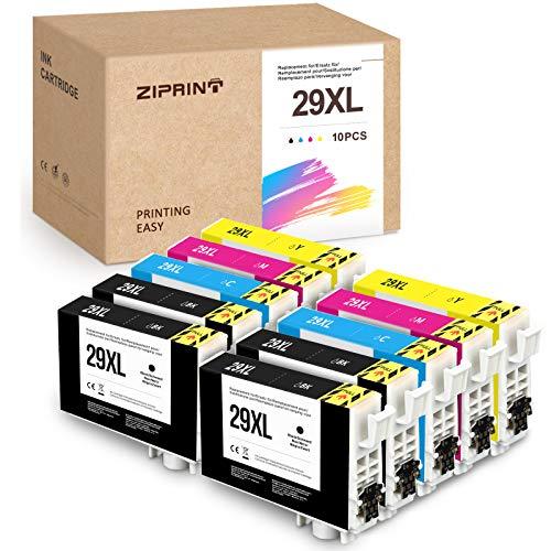 10 Pack ZIPRINT 29XL Compatible Epson 29 29XL T2991 T29XL T29 Cartouches d'encre pour Epson XP 245/xp 255/xp 235/xp 345/xp 355/xp 247/xp 445/xp 257/xp 335/xp455/xp 442/xp 342/xp 352/xp435/xp342