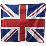 Let it Fly Union Jack United Kingdom UK England Flag Polar Fleece Blanket Throw 50'x60'