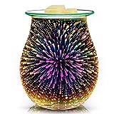 Quemador de cera eléctrica de vidrio 3D Quemador de velas Calentador de cera Calentador d...