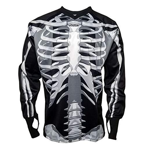 Social Paintball SMPL Unpadded Jersey, Skeleton Bones (Medium)