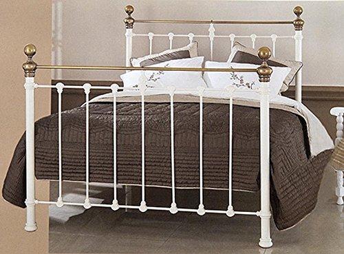 BRONCES DECOEXPORT Cabeceros y Camas con Latón : Modelo Carlisle Marfil de 150x190cms.