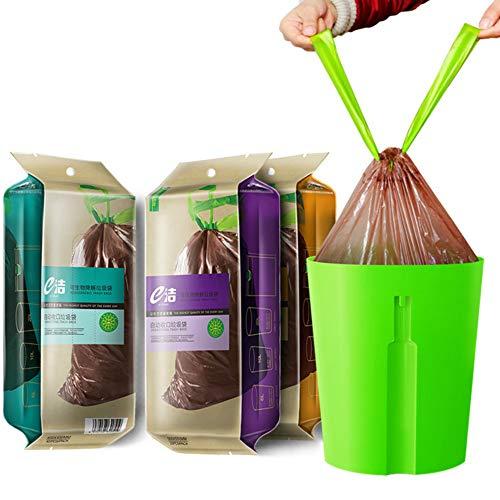 NO BRAND Bolsas de Basura ecológicas 30 Biodegradable Recepción automática portátil Cocina...