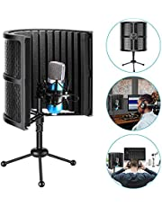 Neewer Tabletop Compact Microphone Insulation Protection with Tripod Stand, Microphone Sound Absorbing Foam for Studio Sound Recording, Podcasts, Vocals, Transmission (Mic and Shock Absorption Not Included)