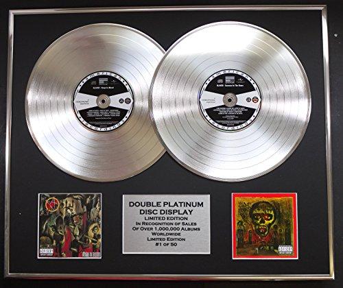 SLAYER/Cd doble Disco de Platino Record Display/Edicion LTD/Certificato di autenticità/REIGN IN BLOOD & SEASONS IN THE ABYSS
