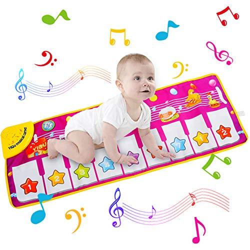 MatSailer Alfombrilla de piano para niños, la mejor alfombrilla de juegos educativa, alfombrilla de baile musical para bebés, regalo para niños y niñas de 1 a 5 años