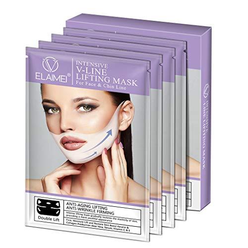 Gjyia 4D V gezichtsvorm Dubbele Lift Gezichtsmasker Fijne kin Check Lift Peel-off Shaper Afslanken Bandage Verstevigende patch huidverzorging