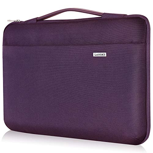 Landici Laptop Case Sleeve 14 15 15.6 Inch with Handle,360°Protective Waterproof Computer Cover Bag Compatible with 16' MacBook Pro 2020,Surface Book 3/2,ASUS Acer Hp Chromebook-Purple